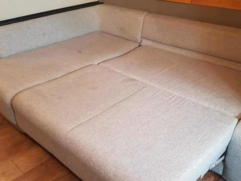 диван-кровать до чистки