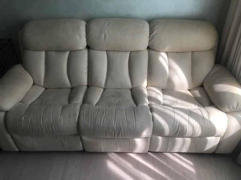 кожаный диван до чистки