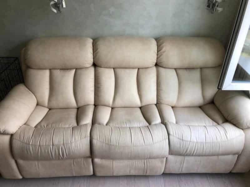 кожаный диван после чистки